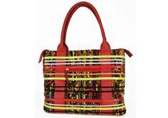 www.cewax.fr aime ce sac en tissu wax africain style ethnique tendance afro tribale rouge noir