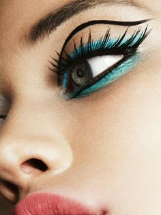 Sixties inspired makeup