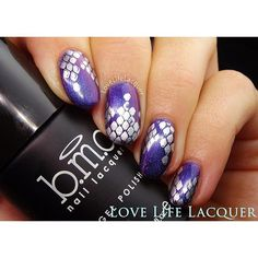 #lovelifelacquer using BM-XL08 and fangtastic creating the perfect snakeskin manicure!