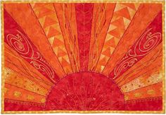 Aurora Sunshine mini quilt with free pattern, Quilt Inspiration