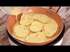 Agregué huevos al pan duro. ¡Mira qué delicioso estaba! - YouTube Finger Foods, Sandwiches, Tacos, Menu, Potatoes, Vegetables, Cooking, Breakfast, Youtube