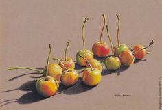 Натюрморт ручной работы. Ярмарка Мастеров - ручная работа. Купить картина пастелью Золотые яблочки. Handmade. Яблочки, желтый, пастель