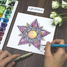 Mandala Star Art Print   Freedom Rise