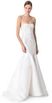 J. mendel Blanche Strapless  Gown