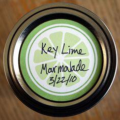 Free printable mason jar labels in green, orange or yellow