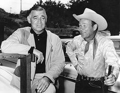 Clark Gable Movie Posters | Roy Rogers and Clark Gable when Roy purchased Gable's Pigeon grade ...
