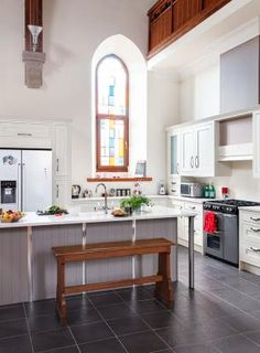 The Kitchen Of A Home That Used To Be A Church My Style Simple Church Kitchen Design Inspiration