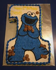 Cookie Monster First Birthday on Cake Central