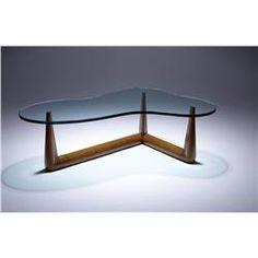 T.H. Robsjohn-Gibbings - Widdicomb - Biomorphic glass coffee table