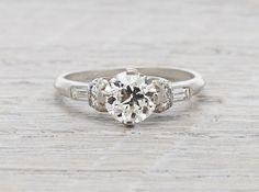 1.06 Carat Art Deco Engagement Ring