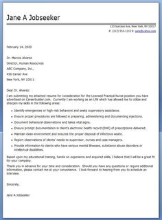 lpn cover letter for resume