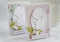Odskocznia vairatki: Zaproszenia chrzcielne Baby Frame, First Communion, Baby Cards, Christening, Angels, Frames, Scrapbooking, Wedding, Inspiration