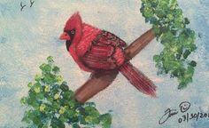 Gene's Bird 8X10 Acrylic SOLD 201461