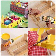 Un tutorial muy barato, sencillo, ecológico... en fin lo tiene todo.  Reciclamos esas cajas de fruta que vemos a diario en las tiendas y ad...