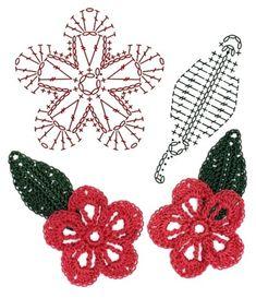 No.17 Impatiens Crochet Flower Motifs / 임파첸스 코바늘 플라워 모티브도안