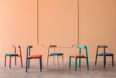 The sculptural Claretta stacking chairs by Miniforms have ash, walnut and oak wood options Milan Furniture, Furniture Design, Stacking Chairs, Open Office, Milan Design, Dining Table Chairs, Sofa Chair, Home Collections, Showroom