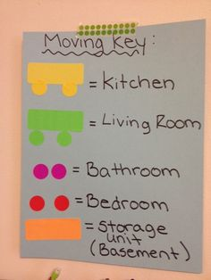 33+ Helpful Moving Tips Everyone Should Know ~ Use a moving key so you don't have to label every box! Just slap on a colored sticker.