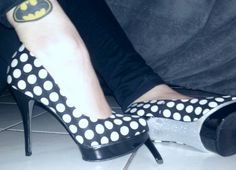 Love my new shoes and not so new Batman tattoo <3