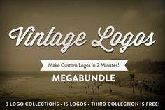 This logo set is only $10! What a great deal! Check out Vintage Logo Collection MegaBundle by heydustinlee on Creative Market