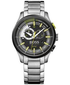 Boss Hugo Boss Men's Chronograph Yachting Timer Ii Stainless Steel Bracelet Watch 45mm 1513336