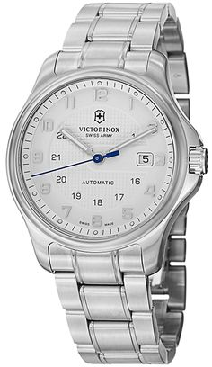 0272cd505cfc Victorinox Swiss Army Officer s Men s White Dial Stainless Steel Automatic  Watch – with knife