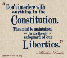 says Abraham Lincoln