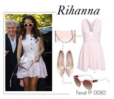 """Rihanna at Paris Fashion Week"" by visiondirect ❤ liked on Polyvore featuring STELLA McCARTNEY, Fendi and NLY Trend"