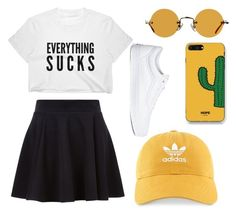 """Untitled #41"" by madisonb705 on Polyvore featuring Hakusan, WithChic, adidas and Vans"