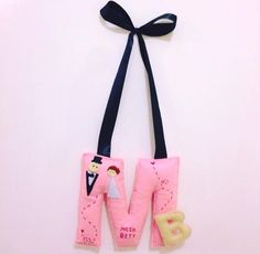 handmade felt M&B letters for couples , wedding gift