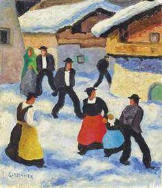 Kirchgang, Tyrol by Herbert Gurschner Austrian (artnet) Fauvism, Impressionism, Art Drawings, Past, Auction, Oil Paintings, Artist, Woodblock Print, Fauvism Art