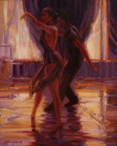 Salsa dancing by William Caldwell