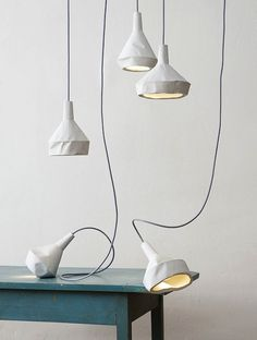 concrete lights by Miriam Aust & Sebastian Amelung (look like paper)