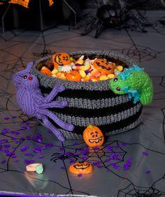 Bug Infested Bowl Halloween Knitting Pattern  #knit  #halloween