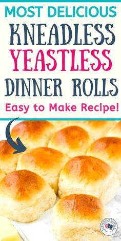 Quick Dinner Rolls, No Yeast Dinner Rolls, Dinner Rolls Recipe, Roll Recipe, Easy Yeast Rolls, Quick Rolls, Easy Homemade Rolls, Homemade Dinner Rolls, Baking Recipes
