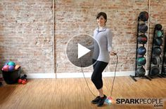 10-Minute Jump Rope Cardio Workout: This short workout of cardio intervals is easy to fit into your day. You can even follow along without a jump rope! | via @SparkPeople #fitness #exercise #video