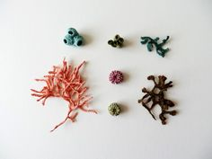 Sea Coral & Shells Collection - Eleanor Rose textile art