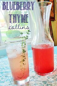 tales from a cottage: Blueberry Thyme Collins