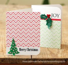 Hero Arts Zig Zag holiday cards by @Lisa Spangler showing how One Little Stamp can be used ALL year round!