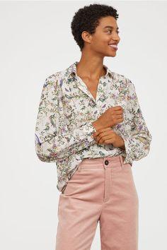 ead0b5caa6b Long-sleeved blouse. Crisp White ShirtWhite ShirtsSheer BlouseBlack ...