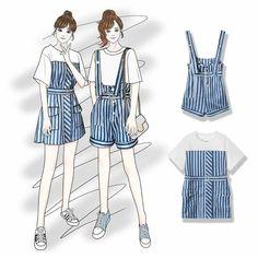 Korea Fashion, Japan Fashion, Fashion Days, Girl Fashion, Fashion Design Drawings, Fashion Sketches, Kimono Fashion, Fashion Dresses, Dress Sketches