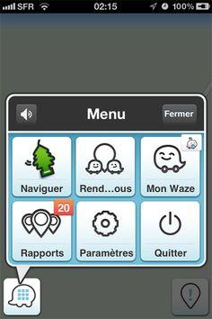 Waze GPS Social & Trafic by Waze Inc. - Mobile UI / UX Design