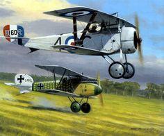 Nieuport 17 Wlliam Fry 60 Sqn captures Ltn Noth Jasta Boelcke - Mark Postlethwaite