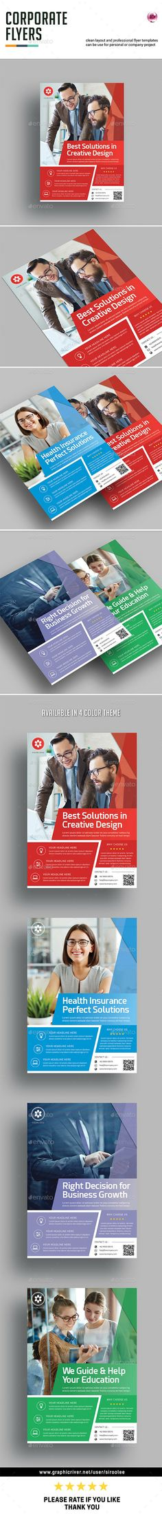 Corporate Flyer Template InDesign INDD. Download here: https://graphicriver.net/item/corporate-flyer-v03/17628208?ref=ksioks