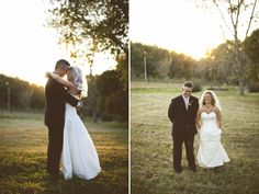 Sara and Marc enjoying the breathtaking scenery Fresh Air Farm has to offer. #wedding #nature #bride #groom #weddingphoto #outdoors #sunset #kansascity #missouri