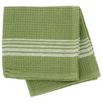 Bulk Green Cotton Dish Cloths with White Stripes, 2-ct. Packs at DollarTree.com