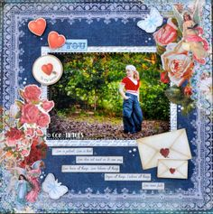 Made with the Key To My Heart Collection from Kaisercraft.  By Kelly-ann Oosterbeek.