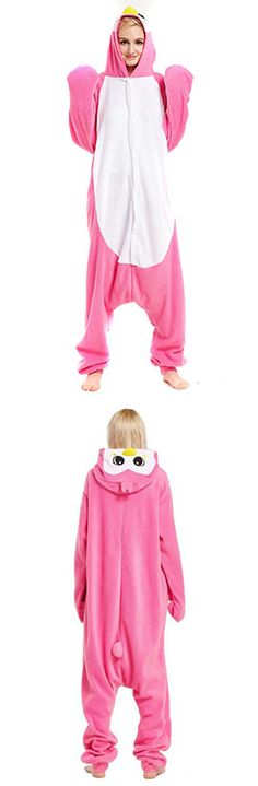 Unisex Adult Pink Penguin Animal Costume Onesie Pajamas 3cb6186ca
