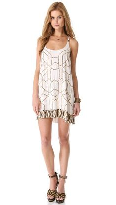 Love Sam Beaded Mini Dress on @Shopbop