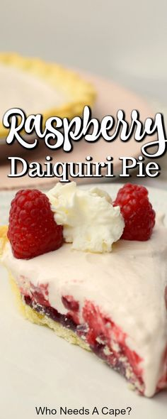 Raspberry daiquiri pie brings the best of dessert and a cocktail to your plate! fruity boozy creamy and so easy to make! youll love this treat! raspberrypie easydessert boozydessert how to make hello dolly bars Quick Easy Desserts, Desserts For A Crowd, Great Desserts, Köstliche Desserts, Delicious Desserts, Dessert Recipes, Tart Recipes, Fudge Recipes, Cookie Recipes