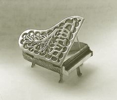 Sterling Silver Grand Piano Spice Box.  I've never seen one like this!